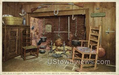 Old Kitche, House of the Seven Gables - Salem, Massachusetts MA Postcard