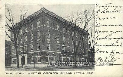 Young Women's Christian Assoc - Lowell, Massachusetts MA Postcard