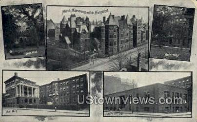 Clark Ward, Vose Hall - Misc, Massachusetts MA Postcard