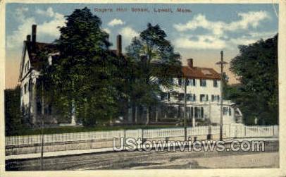 Rogers Hall School - Lowell, Massachusetts MA Postcard