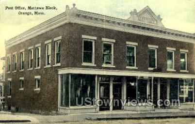 Post Office - Orange, Massachusetts MA Postcard