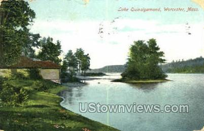 Lake Quinsigamond - Worcester, Massachusetts MA Postcard