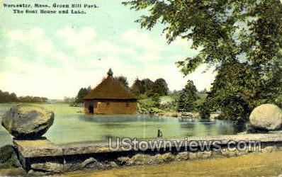 Green Hill Park - Worcester, Massachusetts MA Postcard
