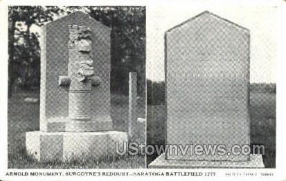 Arnold Monument, Saratoga Battlefield 1777 - Misc, Massachusetts MA Postcard