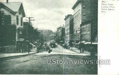 Maine Street - North Adams, Massachusetts MA Postcard
