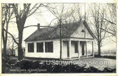 Mary's Lambs School House - Misc, Massachusetts MA Postcard