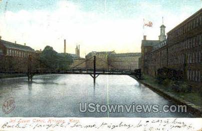 3rd Lower Canal - Holyoke, Massachusetts MA Postcard