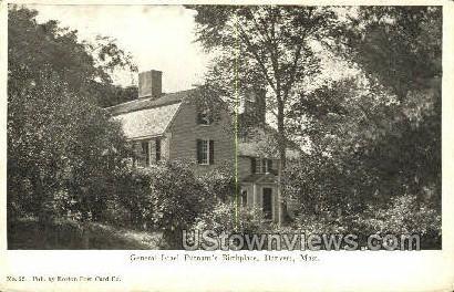 General Israel Putnam's Birthplace - Danvers, Massachusetts MA Postcard