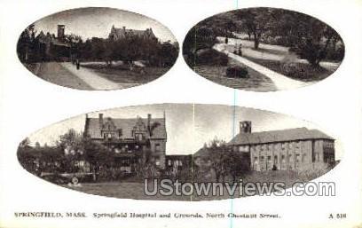 Springfield Hospital & Grounds - Massachusetts MA Postcard