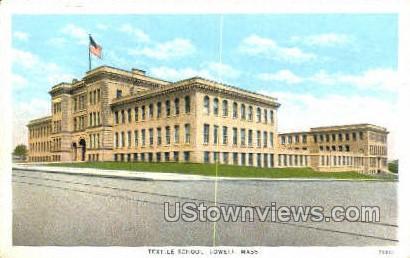 Textile School - Lowell, Massachusetts MA Postcard