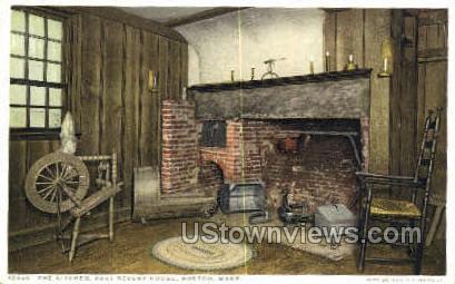 Kitchen, Paul Revere House - Boston, Massachusetts MA Postcard