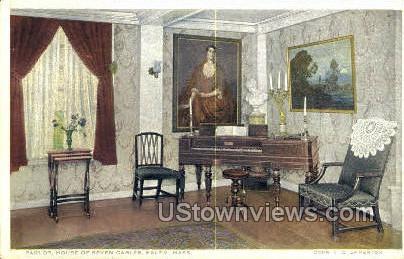 Parlor, House of the Seven Gables - Salem, Massachusetts MA Postcard
