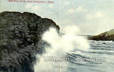 Buff Dog Rock - East Gloucester, Massachusetts MA Postcard