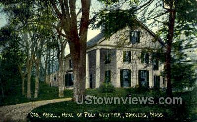 Oak Knoll, Home of the Poet Whittier - Danvers, Massachusetts MA Postcard