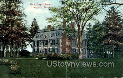 Gen Gage House - Danvers, Massachusetts MA Postcard