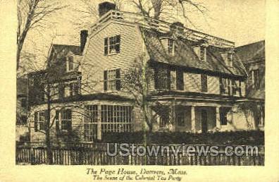 Page House - Danvers, Massachusetts MA Postcard