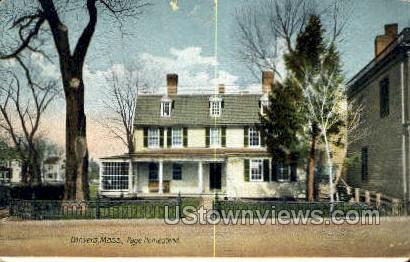 Page Homestead - Danvers, Massachusetts MA Postcard