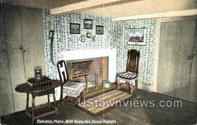 Birth Room, Gen Israel Putnam - Danvers, Massachusetts MA Postcard