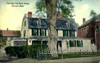 Page Tea Party House - Danvers, Massachusetts MA Postcard