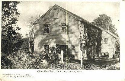 Oldest Shoe Factory in US - Danvers, Massachusetts MA Postcard
