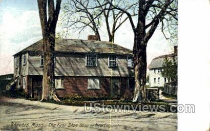 First Shoe Shop, New England - Danvers, Massachusetts MA Postcard