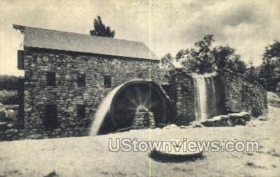 Grist Mill Wayside Inn - South Sudbury, Massachusetts MA Postcard