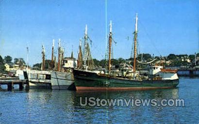 Gloucester Fleet - Cape Ann, Massachusetts MA Postcard