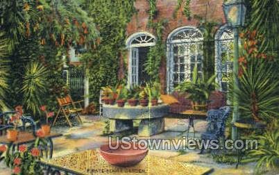 Pirate House Garden - Misc, Massachusetts MA Postcard