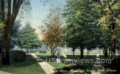 Washington Square - Salem, Massachusetts MA Postcard