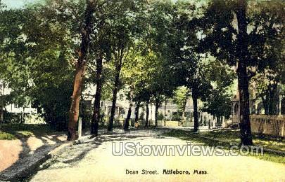 Dean Street - Attleboro, Massachusetts MA Postcard