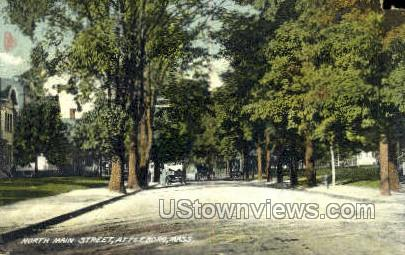 North Main Street - Attleboro, Massachusetts MA Postcard