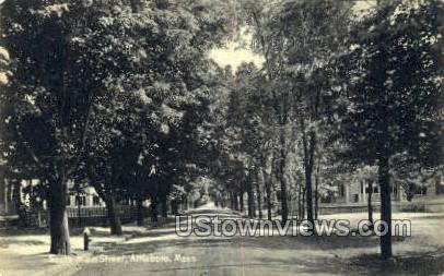 South Main Street - Attleboro, Massachusetts MA Postcard