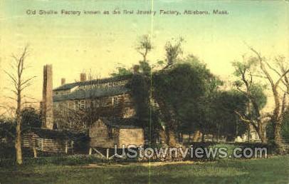 Old Shuttle Factory, First Jewelry - Attleboro, Massachusetts MA Postcard