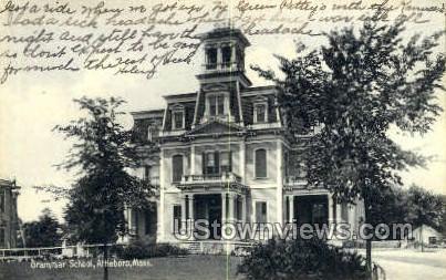 Grammar School - Attleboro, Massachusetts MA Postcard