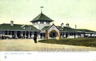 Depot - Fall River, Massachusetts MA Postcard
