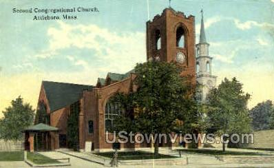 Second Congregational Church - Attleboro, Massachusetts MA Postcard