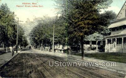 Pleasant Street - Attleboro, Massachusetts MA Postcard