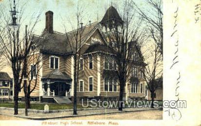 Attleboro High School - Massachusetts MA Postcard