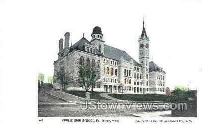 Public High School - Fall River, Massachusetts MA Postcard
