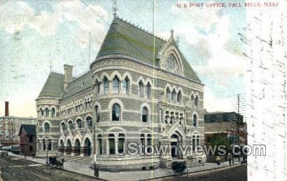 US Post Office - Fall River, Massachusetts MA Postcard