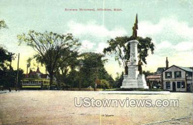 Soldiers Monument - Attleboro, Massachusetts MA Postcard