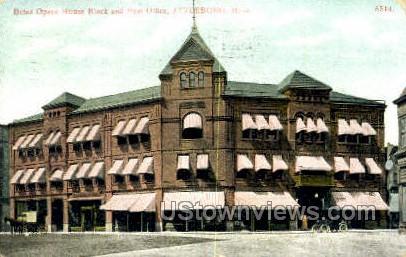 Bates Opera House Block - Attleboro, Massachusetts MA Postcard