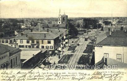 Park Street - Attleboro, Massachusetts MA Postcard
