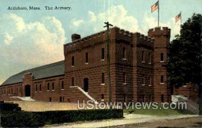 The Armory - Attleboro, Massachusetts MA Postcard