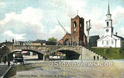 Arches, RR Grade Crossing - Attleboro, Massachusetts MA Postcard
