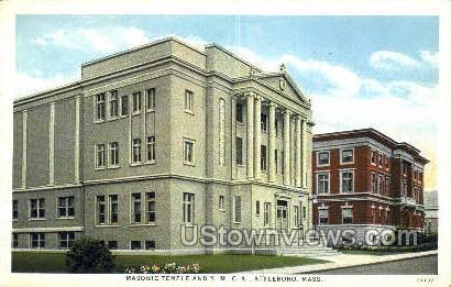 Masonic Temple, YMCA - Attleboro, Massachusetts MA Postcard