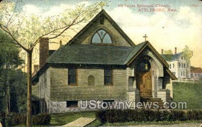 All Saints Episcopal Church - Attleboro, Massachusetts MA Postcard