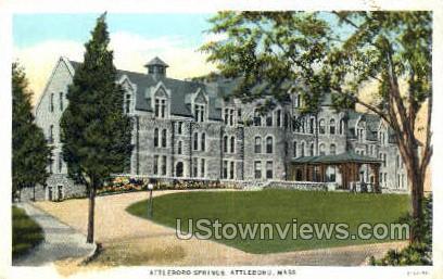 Attleboro Springs - Massachusetts MA Postcard