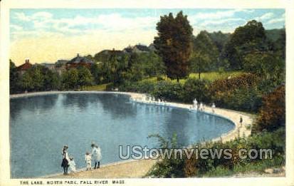 Lake, North Park - Fall River, Massachusetts MA Postcard