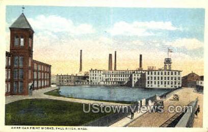American Print Works - Fall River, Massachusetts MA Postcard